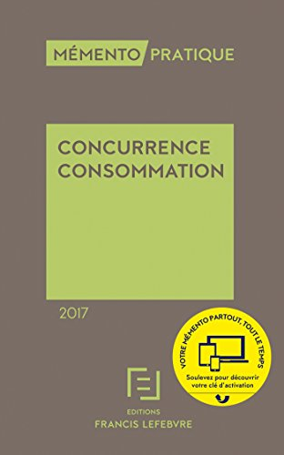 MEMENTO CONCURRENCE CONSOMMATION 2017