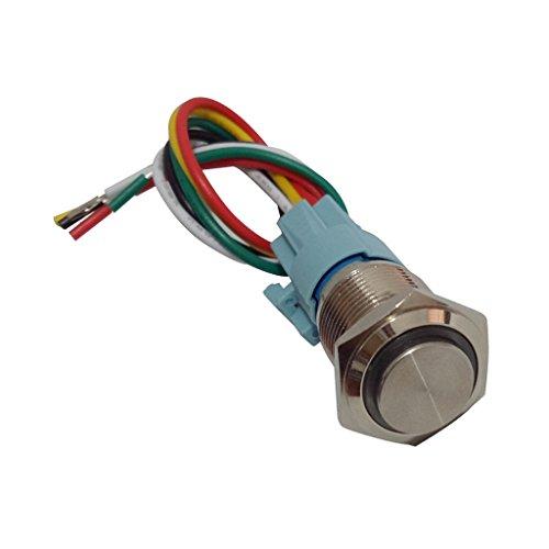 Baoblaze 16mm Interrupteur à Verrouillage Bouton Poussoir Commutateur D'auto-Verrouillage - Bleu