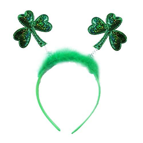 NUOBESTY 3 Stück St. Patrick's Day Stirnband Kleeblatt Haarreif Haarband Klee Kostüm Kopfschmuck für Irish Party ()