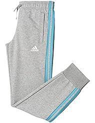 adidas YG 3S Slim Pantalón, Niñas, Gris (Brgrin / Azuene), 110