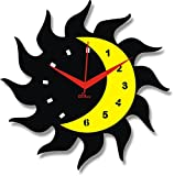 2 O Clock Black & Yellow Moon Designer W...