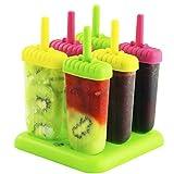 Chuzy Chef Eisformen für Eis am Stiel, Setmit6Stück, BPA-frei, verschiedene Farben, mit Tablett, sorgt fürSpaß bei Kindern und Erwachsene, geeignetals Party-Zubehör, für den Innen- und Außenbereich