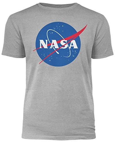 NASA Logo - Herren T-Shirt - Grau - XL (Grau-logo-t-shirt)