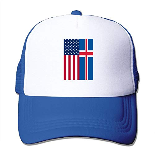 Gorgeous ornaments Two Tone Trucker Cap - Iceland American Flag - Adjustable Mesh Cap -