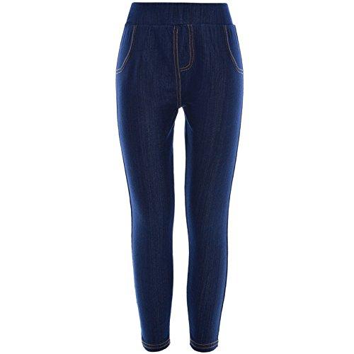 BEZLIT Kinder Mädchen Leggings Skinny Slim Stoff Sport Trainings Hose Jeggings 21018, Farbe:Blau;Größe:164 (T-shirt Bauchtanz)
