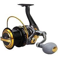 ZRWL Carrete anti-corrosión Spinning Fishing con sistema de frenos de doble fricción Rodamientos Manija intercambiable izquierda derecha para la pesca de agua dulce de agua salada 12 + 1 Potencia máxi