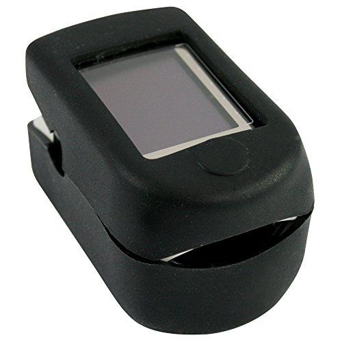 Silikonhülle für Fingerpulsoximeter CMS in 6 Farben, Farbe:Schwarz