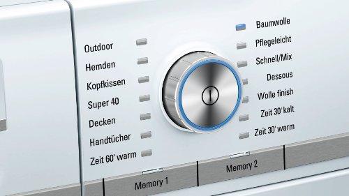 Siemens iQ800 WT47Y701 iSensoric Premium-Wärmepumpentrockner / A++ / 8 kg / Weiß / Selbstreinigender Kondensator / SoftDry-Trommelsystem / TFT-Display - 7