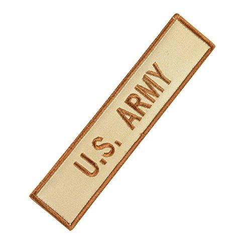 US Army Name Tape Desert AOR1 DCU Embroidered Milspec Combat Hook&Loop Aufnäher Patch (Army Desert Uniform)