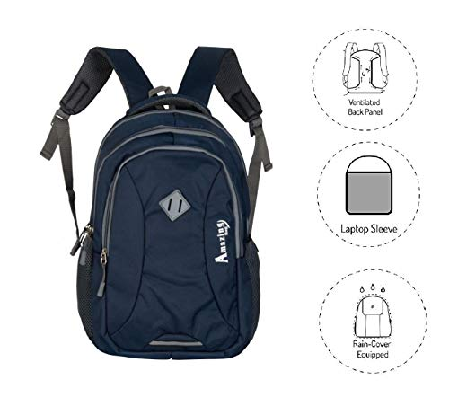 AB Amazing Bag 34 Ltrs Casual Waterproof Laptop Bag for Men Women Boys Girls/Office School College Teens & Students with Free RAIN Cover (18 Inch) (Navy) Image 5