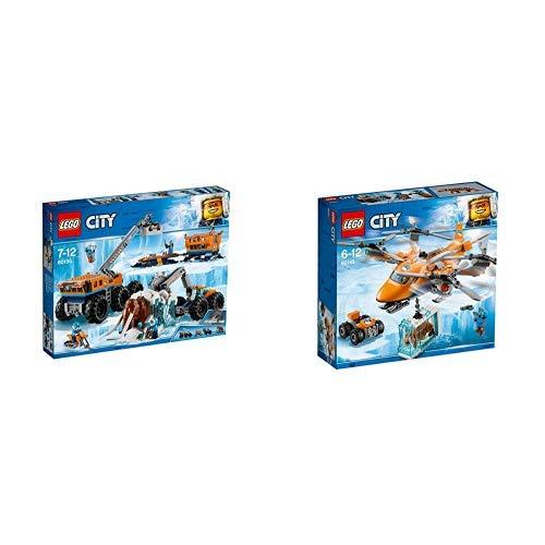 LEGOCity Mobile Arktis-Forschungsstation 60195 Kinderspielzeug & LEGO City 60193 Arktis-Frachtflugzeug