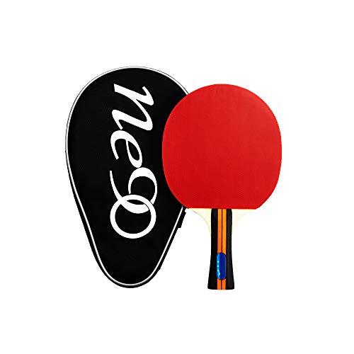 NE90 Sports Tischtennisschläger, leicht, Ping Pong Schläger, tolle Geschwindigkeit, feine Kontrolle, bequemer ausgestellter Griff mit Schutzhülle.