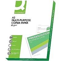 Connect Office Paper A3 500 Sheets Color blanco - Papel (Color blanco, 80 g/m², 299 x 424 x 56 mm, 500 hojas, 297 x 420)