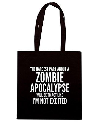 T-Shirtshock - Borsa Shopping TZOM0054 zombie apocalypse (3) Nero