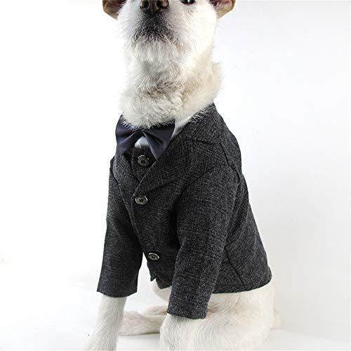 YUNSW Smoking Hund Kleidung Hochzeit Anzug Kleidung Für Golden Retriever Sack Hund Mantel Große Hündchen Kostüme Schwarz XXL