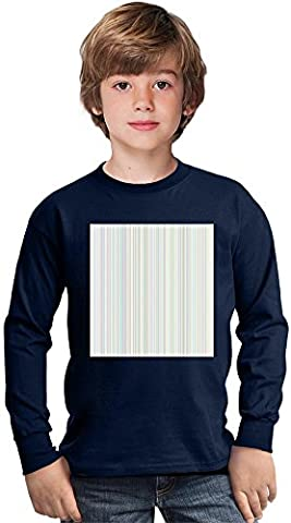Light Vertical Lines Print Amazing Kids Long Sleeved Shirt by Benito Clothing - 100% Cotton- Ideal For Active Boys-Casual Wear - Perfect For A Present Unisex 3-4 years