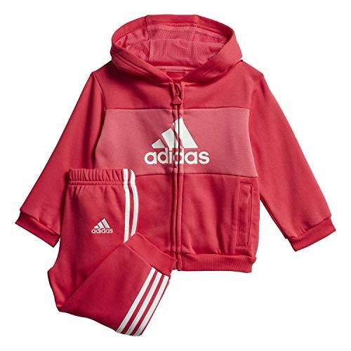 adidas Baby Jogginganzug Logo Hooded Active pink/REAL PINK S18/white 74