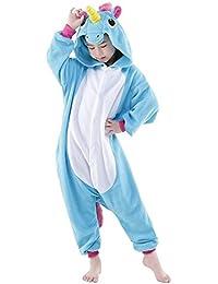Semia Niño Unicornio Pijamas Niña Unisex Monos Ropa de Dormir Disfraz de Animal Cosplay Traje Disfraz Carnaval Halloween Navidad Pijamas de Una Pieza Invierno