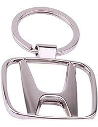 AutoSun HND-10 Chrome Plated Steel Imported Key Chain Key Ring Car Logo For HONDA