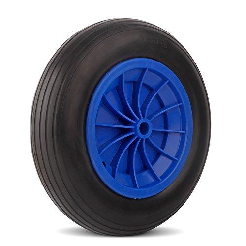 Preisvergleich Produktbild YAOBLUESEA Vollgummi Räder Pu Rad 3.50-8 Schubkarrenrad 350mm Räder pannensicher