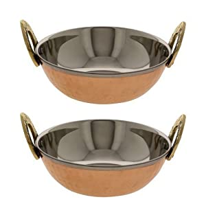 Serving Bowl Karahi Indian Food Serveware Set Of 2 6