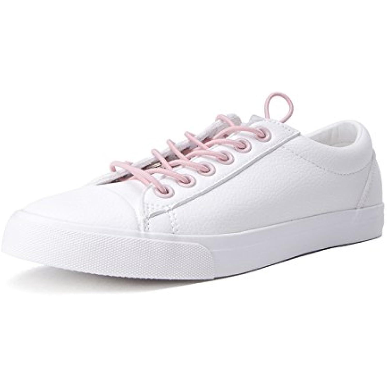 DHG Mignonnes Chaussures de Beauté Douce de Printemps, Chaussures Blanches Mignonnes DHG de Ruban de Madame, Chaussures Ronds... - B07FDXMT4D - e97bb6