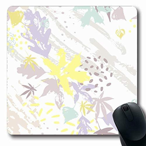 Mauspads für Computer Lila Herbst Abstrakt Hell Pastellfarben Eiche Natur Birkenklecks Boho Brush Curve Design Minimale rutschfeste längliche Gaming-Mausunterlage -