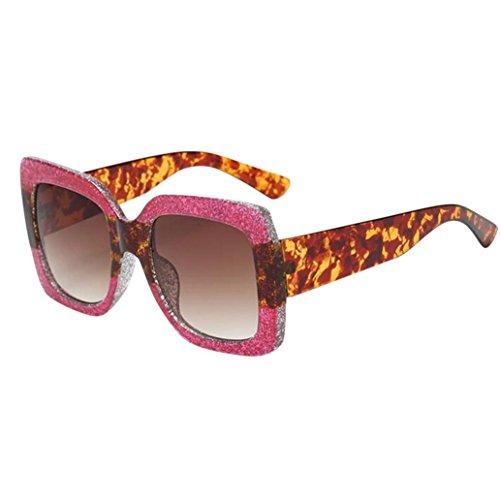 TUDUZRetro Square Sonnenbrille Gradient Lens Outdoor Polarisierte Sonnenbrille für Damen Herren (Mehrfarbig-B)
