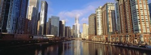 Panoramic Images – Skyscraper in a city Trump Tower Chicago Cook County Illinois USA Photo Print (91,44 x 33,02 cm) (Illinois Chicago Tower Trump)