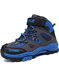 Ragazzi Scarpe Sportive da Basket Alte con Velcro Scarpe da Ginnastica  Impermeabili Calde per Bambini Scarpe 855c1baae6b