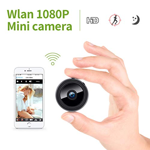 Mini Kamera, KinCam 1080P Full HD Wireless Überwachungskamera Nanny Cam WiFi IP Kamera mit Bewegungmelder für iPhone/Android/iPad