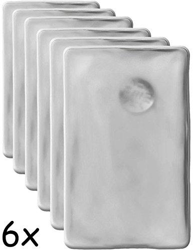 6 cojines de calor HomeTools.EU, calentador de gel duradero, reutilizable, 10 x 6,5cm