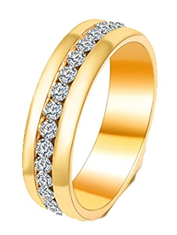 SaySure - Gold Color Silver Color Crystal Wedding Jewelry (SIZE : 10)
