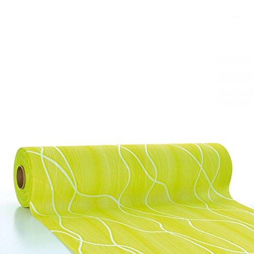(Sovie HORECA Tischläufer Rene in Lime aus Linclass® Airlaid 40 cm x 24 m, 1 STK)