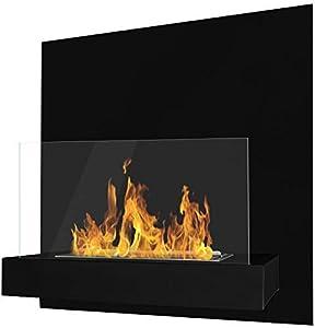 Ethanol-Kamin Schwarz Ethanolkamin Bioethanol Genießen Sie romantische Atmosphäre mit Feuer ohne Rauch/Ruß. Bei der Verbrennung wird Bioethanol lediglich in Wasserdampf und Kohlendioxid umgesetzt. Das sind die Stoffe, die wir auch beim Atmen freisetz...