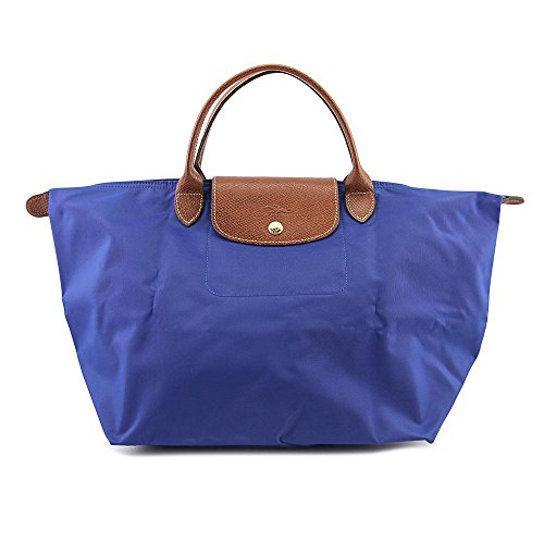 Longchamp Le Pliag 12 Medium Handbag Donna Tela Blue