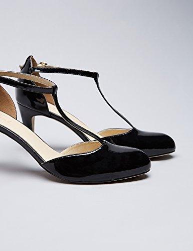 FIND Scarpe Mary Jane con Tacco Donna Nero (Black)