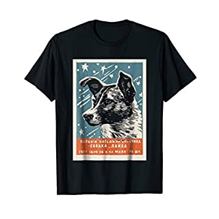 Laika Space Dog T-Shirt Vintage CCCP Soviet Russia USSR