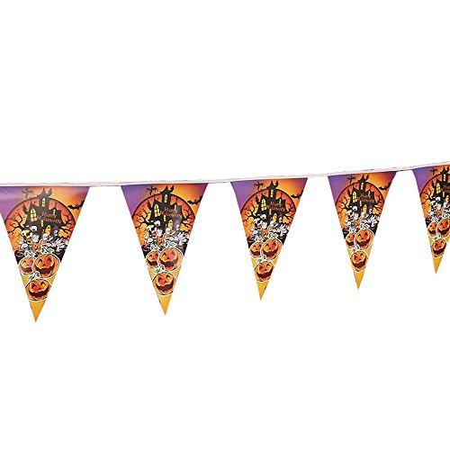 Kostüm Catwoman Geschichte - YWLINK Halloween Wimpeln Girlande,Wimpelkette Stoff,Holiday Indoor Im Freien FüR Party, Garten, Bar, Laden, Cafe Dekoration(A,28*19cm)