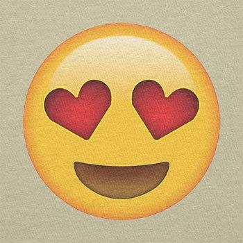 Texlab–Heart Eyes Emoji–sacchetto di stoffa Naturale