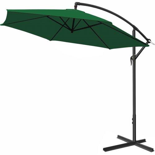 Deuba® Alu Ampelschirm Ø 300cm • grün • mit Kurbelvorrichtung • Aluminium • Wasserabweisende Bespannung - Sonnenschirm Schirm Gartenschirm Marktschirm