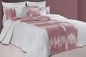 Couvre-lit réversible 220x270 cm - 2 personnes Grenat