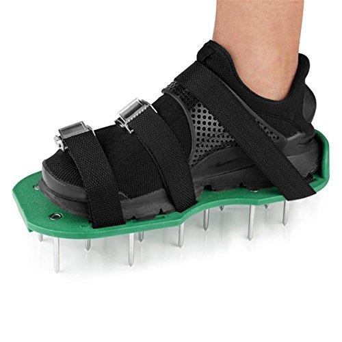 Queenbox® Lawn Aerator Spike Schuhe mit 3 Verstellbaren Schnallen Straps, einfach zu montieren und zu verwenden