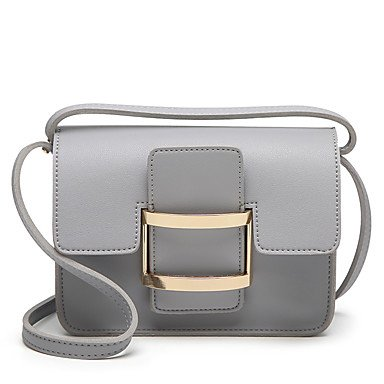 Donne Tote PU tutte le stagioni Wedding evento/festa sportiva outdoor formale Office&carriera Sling Bag marrone magnetico Nero Grigio bianco verde,verde Gray