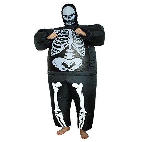 Halloween Körper Skelett Aufblasbare Kleidung, Halloween-Party Horror-Requisiten Kleidung, Ghost Festival Aufblasbare Kleidung Spoof Performance Kleidung