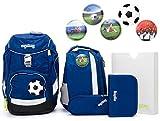 Ergobag Pack Set 6tlg SchlauBär mit Wunschkletties Fußball Special Edition