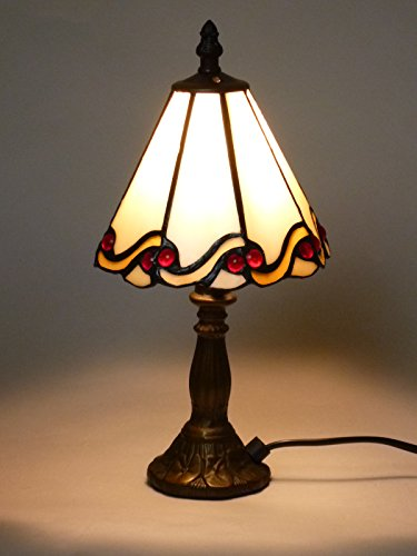 Antike Tiffany-tisch-lampe (Tiffany-Tischleuchte Tiffany-Tischlampe Dora aus echtem Tiffany-Glas Glas-Tischleuchte Glas-Tischlampe Handarbeit)