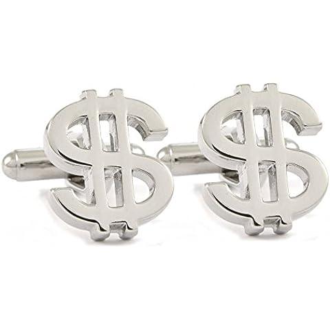 Cuff-Daddy-Gemelli con simbolo del dollaro, confezione regalo