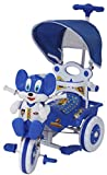 Amardeep and Co Baby Tricycle 86*64*33 cms 1-3 yrs W/Shade and Parental Control (Blue) - Blue1522MC