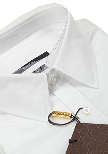 CL-Gucci-Solid-White-Dress-Shirt-Size-43-17-US-Slim